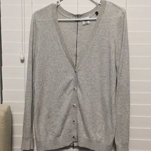 CAbi Sweater Cardigan Zipper Back Size S Gray